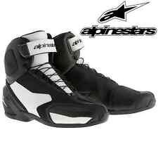 Chaussures ALPINESTARS SP-1 noir blanc basket demi-bottes moto route cuir NEUF