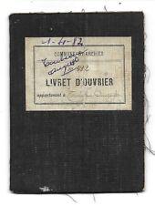 Livret d'Ouvrier (1911)