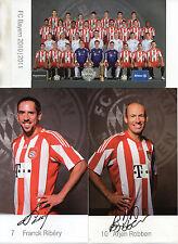 28 Autogrammkarten - FC Bayern München - 2010/2011 - Autogramme