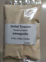 Organic Ashwagandha root powder Indian ginseng NON GMO free shipping