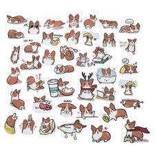 1Set Dog Kawaii Scrapbooking Stickers Cute Corgi Crafts Cartoon Mixed Sticker