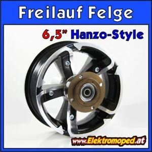 """Ersatzteil ElektroScooter 6.5"""" Alu Freilauf Felge Hinterrad Hanzo Style 2geteilt"""