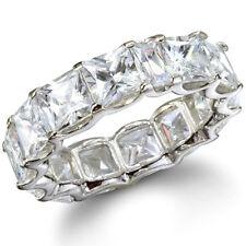 Princess Cut Diamond Eternity Band 4.80 Carat 18k White Gold