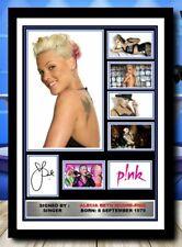 More details for 521) alecia beth moore pink signed unframed/framed photograph (reprint) @@@@@@@@