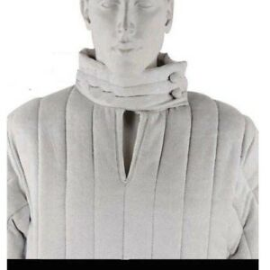 X-MAS GIFT White Thick Padded Gambeson Medieval costumes suit of Sca Larp