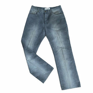 Men's NEXT grey cord jeans size 34R cotton polyester button fly made in Morocco