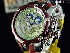 Invicta Mens Reserve Venom Swiss Chrono Master Calendar Chocolate Brown SS Watch