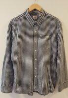 Levi Strauss & Co Levi's Men's Blue & White Check Long Sleeve Buttoned Shirt XL