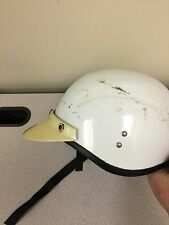 Vintage 1968 Scooter Motorcycle Helmet White with Visor - Needs Restore