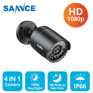 SANNCE 1X4IN1 Bullet HD 1080P CCTV Camera Home Surveillance System 100ft IP66 UK