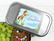Lunchbox Pferd springend und Namen personalisiert BPA-frei