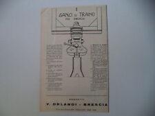 advertising Pubblicità 1961 GANCI DI TRAINO ORLANDI - BRESCIA