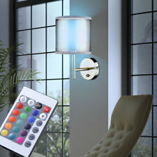 RGB LED LUZ DE PARED COMEDOR Tela Lámpara Gris Interruptor Regulador Big Luz