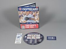 Chicago Cubs 2018 Opening Day Ticket Stub, Program & Promo Schedule Magnet