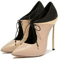Women Ankle Strap Boots Pointed Toe Pumps High Heels Ladies Stiletto Party Shoes