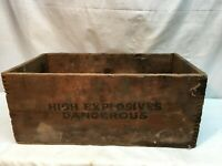 Vintage Danger High Explosives Wood Box Crate Trojan Brand Powder Co. Allentown