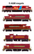Arkansas & Missouri SD70ACe, 2 C420s, RS1 & C425 Set of 5 magnets Andy Fletcher