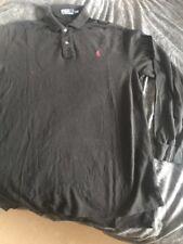 Ralph Lauren Polo Camisa Negra Con Caballo Rojo Talla XL