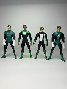 "4X GREEN LANTERN ACTION FIGURE LOT DC COMIC JOHN STEWART 6"" RARE"