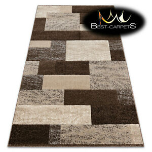 Thick Best Quality 20mm Modern Design Densely Soft Rugs 'FEEL' Rectangles brown