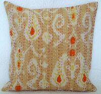 Paisley Design Indian Kantha Cushion Cover Pillow Case Cotton Throw Sofa Decor