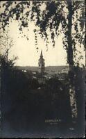 Dobruška Tschechien Gutenfeld alte AK 1924 gelaufen Blick auf den Kirchturm