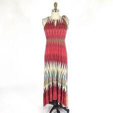 M - JULIENNE W Weston Wear Anthropologie Colorful Soft Hi Low Maxi Dress 0516WC