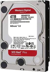 HARD DISK 3,5 WESTERN DIGITAL RED PLUS 4TB CMR SATA3 5400rpm 256MB WD40EFZX NAS