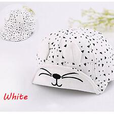 Fashion Toddler Infant Sun Cotton Cap Baby Girls Boys Summer Beach Hat Berets White