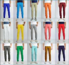 Mens Jeans Slim Fit Straight Skinny Fit Denim Trousers Casual Pants 15+ Colors