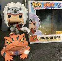 Funko Pop Jiraiya on Toad 6 Inch #73 Naruto Shippuden Hot Topic Exclusive
