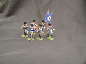 Napoleonic hat Prussian infantry command 1/32  painted toy soldiers