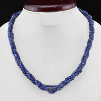 RARE 150 CTS NATURAL BLUE TANZANITE FACETED ROUND BEADS NECKLACE - GEM EDH