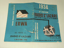 Catalogue TSF RADIO St LAZARE 1934 Poste brochure  prospekt old paper    POULBOT