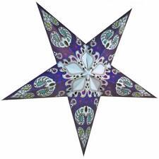 "24"" Blue Galaxy Paper Star Lantern, Hanging Decoration"