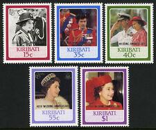 Kiribati 495-499,MNH.OE II 60th Birthday overprint 40th WEDDING ANNIVERSARY,1987