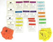 Monopoly 1961 Cards Deed Railroad Utility Chance Community Replacement Vintage