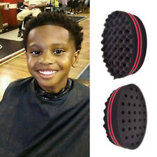 1xDouble Sided Barber Hair Brush Sponge Dreads Locking Twist Coil Afro Curl Wave
