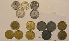 Kaiserreich Münzen 5Pf Pfennig 1874-1973 Weimarer DrittesReich Wahl ABCDEFGHJ