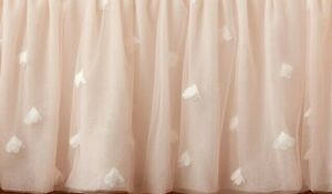 Pottery Barn Kids Monique Lhuillier Ethereal Tulle Crib Skirt, Blush Pink