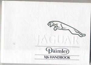 Jaguar Daimler XJ6 XJ40 Sovereign XJ40 3.2 4.0 Owners Handbook JJM 10 1991-94