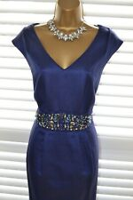 ~ PLANET ~ Blue Beaded Dress Size 16 14 BNWT New Mother of the Bride Suit Outfit
