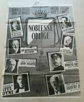 Cinema Plakat Noblesse Oblige Alec Guinness 1949 Nachdruck Annees 70