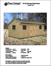 10' X 16' Saltbox Style Garden Storage Shed Project Plans - Design # 71016