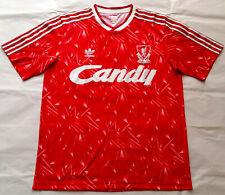 Rare LIVERPOOL 1990 CANDY Genuine Adidas Originals Home Shirt Jersey 1989