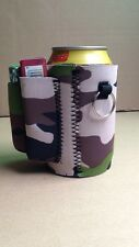 BEER KOOZIE with cigarette and lighter holder (Camo)