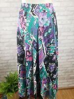 Essay skirt womens 10 vintage 1980s crinkle rayon Southwest meets tropical print