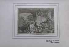 Der barmherzige Samariter Studie von Rembrandt - Kunstblatt aus 1906 art print