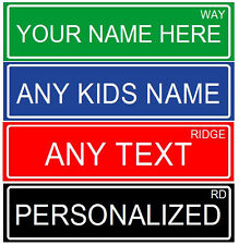"MAKE YOUR OWN PERSONALIZED ALUMINUM RUSTPROOF METAL CUSTOM STREET SIGN, 6""X24"""