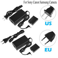 100V-240V Power Adapter Camcorder Charger for Sony Canon Samsung Camera US/EU